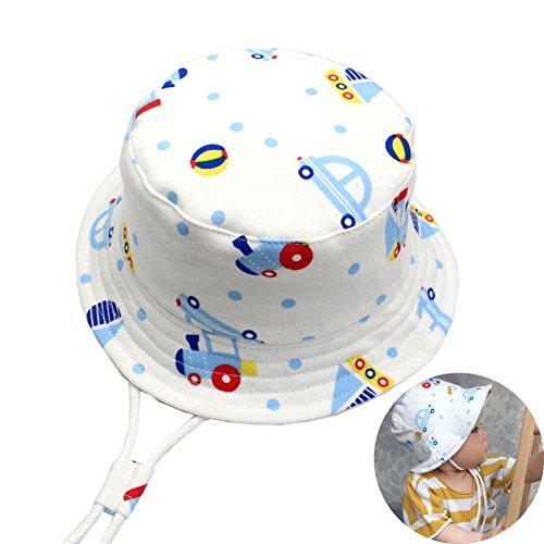 YOUOR Baby Bucket Hats 100% Cotton Boy Girl Hat Adjustable Cartoon Sun Cap
