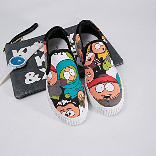 Y-BOA Chaussures Slip-on Casual Sneakers Basse Femme/Fille Motif Cartoon Eté Printemps Vert