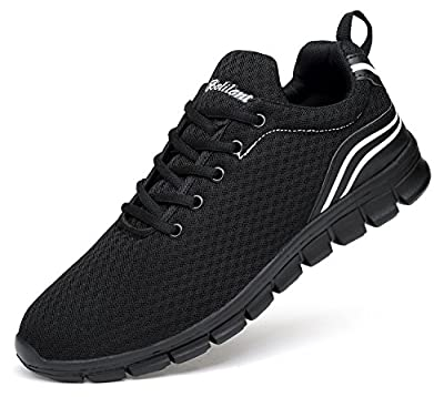 Ritiriko Mens Trainers Road Running Shoes Athletic Sneakers for Walking Gym Sport
