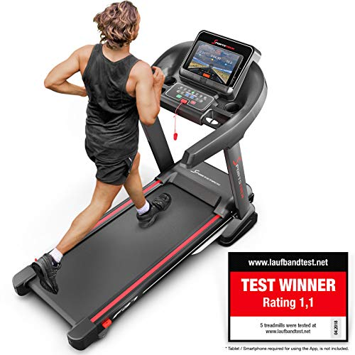 Sportstech TEST WINNER F37 Professional Treadmill Up To 20 Km/h, Self-Lubrication System, Smartphone Fitness App, 15% Slope, Bluetooth Usb Mp3, Large Running Surface + Cushioning System (F37)