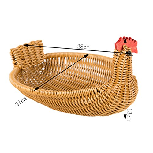 Handgemachte Stroh Braid Storage Basket Brown Cock Lagerung Rattan Bad Korb Chocolate (Chocolate Tote Brown)