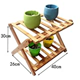 YUN-X Bambus-Schuh-Regal-faltendes Schuh-Gestell-mehrschichtiges einfaches Schuh-Regal (größe : A)