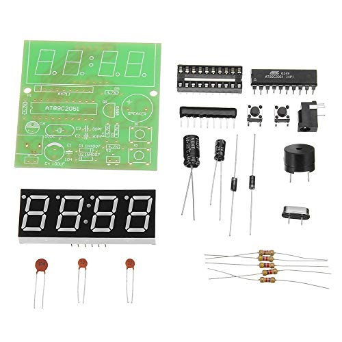 JeanPolly Frase Relojes 3pcs Reloj MCU Reloj Kit DIY Multifunción Cuatro bits Digital Música Kit