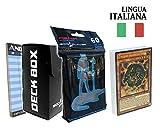 Andycards Structure Deck Macchine Respingitrici - Mazzo Yugioh SR03 in Italiano + 60 Bustine Protettive God-Player Nere + Deck Box Nero + Segnapunti
