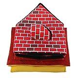 Detectoy Portable Brick Pet House mit Kamin Warm und gemütlich Hund Katze Bett Abnehmbare Waschbar Haustier Zelt Geeignet für Alle Jahreszeiten