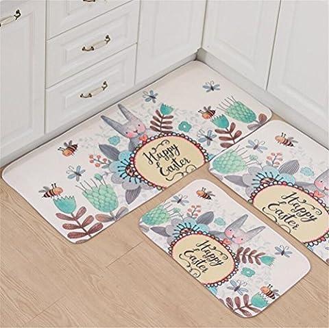 Teppich Soloo Anti-Bakterielle Kufe Mats Dekorative Moderne Zeitgenössische Designs Kaninchen und Bienenmuster für Wohnzimmer Schlafzimmer Küche Home Ances