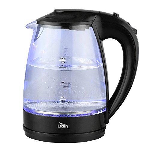Uten Wasserkocher Glas Teekocher Elektrisch mit LED Beleuchtung
