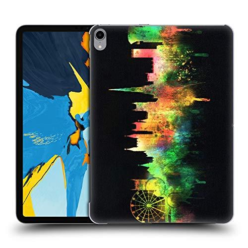 Head Case Designs Offizielle Ali Chris Schwarz Stadtbild Aquarell Kartensammlung Harte Rueckseiten Huelle kompatibel mit iPad Pro 11 (2018)