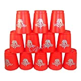 YoungJun Stacking Flying Cups Red (Pack of 12)