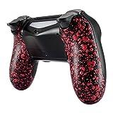 eXtremeRate PS4 Controller Schutzhülle Case Anti-Rutsch Rückseite Hülle Cover Gehäuse Skin Schale für Playstation 4 PS4 Slim PS4 Pro Controller JDM-040,JDM-050,JDM-055(Rot)