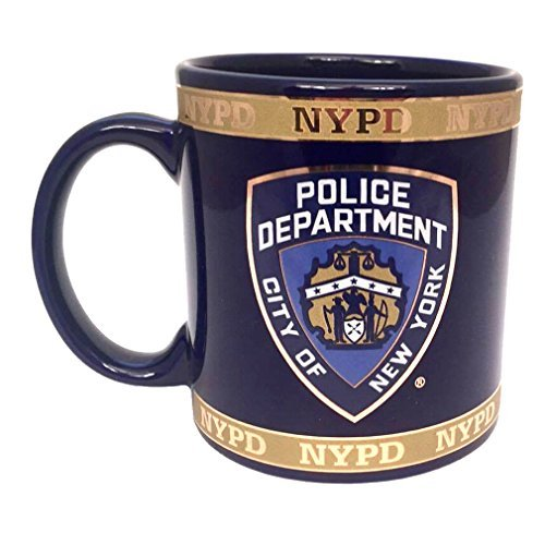 TORKIA INTERNATIONAL Jumbo Ceramic Souvenir NYPD Mug 30634 by Torkia International - Jumbo Ceramic Mug