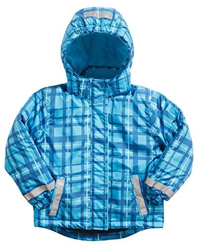 Playshoes Schneejacke, Skijacke, Snowboardjacke Karo, Blau-Kariert - Abrigo para la nieve para niños, color blau (original), talla 6 años (116 cm)