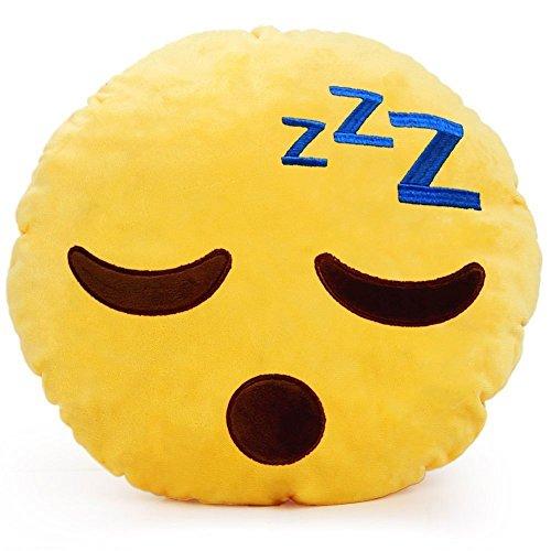 """minifamily® 32cm Emoji-Kissen Smiley Emoticon Kissen gefüllt """"weichen Plüsch Spielzeug Puppe Geschenk Home Decor (ZZZ)"""