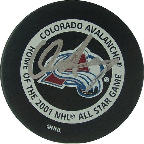 Preisvergleich Produktbild Steiner Sports NHL New York Rangers Chris Drury Colorado Avalanche Spiel Modell Signiert Puck