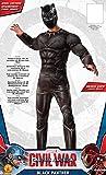 Rubie 's Offizielles Marvel Black Panther Deluxe Kostüm für Erwachsene X-Large Größe–Bürgerkrieg -