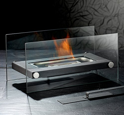 ... Carlo Milano Lounge Feuer: Gläserner Tischkamin Für Bio Ethanol (Ethanol  Kamin Als ...