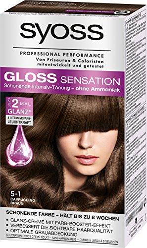Syoss Gloss Sensation Intensiv-Tönung 5-1 Cappuccino Braun, 3er Pack (3 x 115 ml)