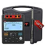 nktech UNI-T UT512Medidor de Resistencia de aislamiento AUTO rango 30analógico gráfico de barras analógico) voltímetro Pi/dar prueba Voltaje 500V/1000V/1500V/2500V con TL-1destornillador