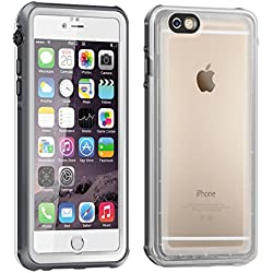 iPhone 6 Funda Impermeable, Eonfine Funda Caso Transparente Waterproof IP68 Certificado con Touch ID Protector Carcasa Anti-agua a Prueba de Agua,Golpes,Polvo,Funda Protectora de Cubierta para iPhone 6/6s 4.7 Negro