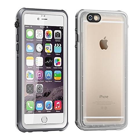 Coque Etanche iPhone 6, Eonfine Coque Housse Etui Transparant Waterproof IP68 Imperméable Antichoc Antipoussière Anti-neige avec un Touch ID Ecran Protecteur pour iPhone 6 6s, 4.7''