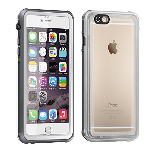 ea6c873aa78 iPhone 6 Funda Impermeable, Eonfine Funda Caso Transparente Waterproof IP68  Certificado con Touch ID Protector