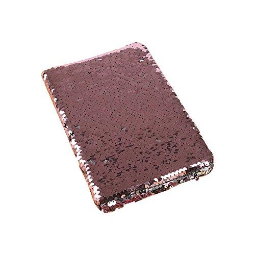 Tagebuch mit Pailletten, wendbar, kreativ, Pailletten, Tagebuch für Mädchen, Jugendliche, Rosa - Bid-tag-taschen