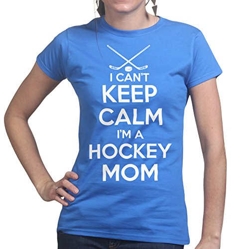 Keep Calm Im A Hockey Mom Jersey Card T shirt (Blau Puck Jersey)