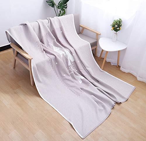 Summer Quilt Blanket Erwachsene Kindertuch Von Gaze Sommer Cool Von 200 * 230 Graue Gipfel Sommerdecke -