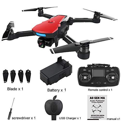 HKFV CG033 - Quadricottero GPS WiFi 1080 p, Senza spazzole, 2,4 G FPV WiFi HD 1080 P, con Telecamera GPS, Rot, 13.9X7.3X5.1cm