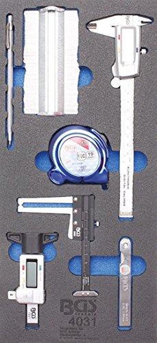 BGS 4031 1/3 Werkstattwageneinlage: Messwerkzeuge, 7-tlg