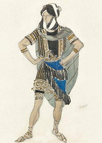 Ballet Vintage LÉON BAKST Martydom per Costume di San Sebastian c1911 Cartolina illustrata, formato A3, 250 g/mq, riproduzione