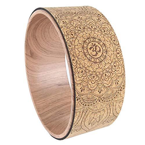 SUPERLOVE Yoga Wheel Yoga-Kreis-natürlicher Korken-Yoga-Hilfsmassage-Rad-Rückenbeuge Art Pilates Yoga-Kreis
