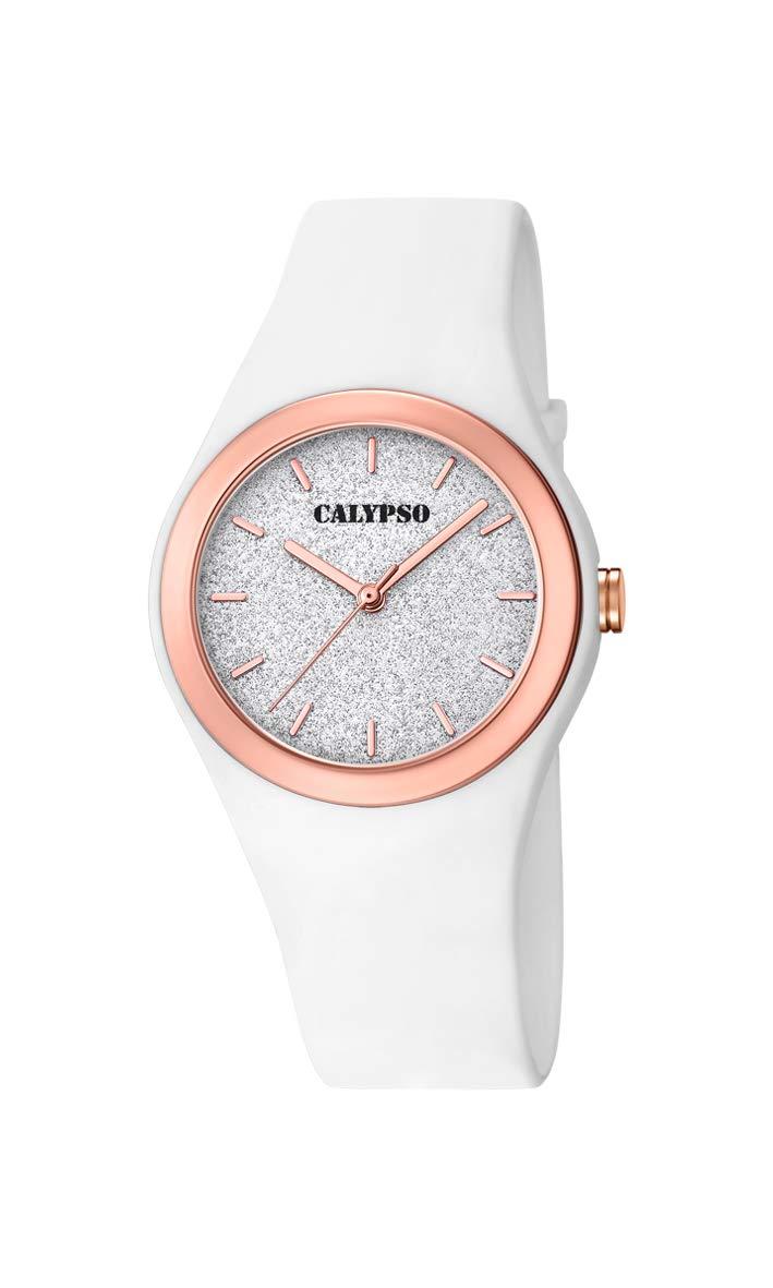 Calypso Watches Reloj Analógico para Mujer de Cuarzo con Correa en Plástico K5755/1