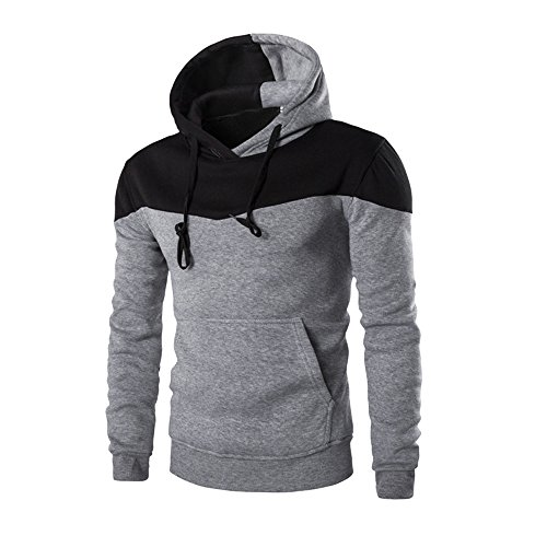 iHENGH Hommes Hiver Mince à Capuche Sweat-Shirt à Capuche Chaud Manteau Veste survêtement Pull