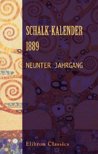 Schalk-Kalender. 1889: Neunter Jahrgang