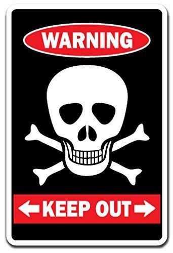 Zitat Aluminium Schild Keep out mit Totenkopf Warnung Private Property Kinder Tür Zimmer Schild Metall Geschenk Schild, Dekoration