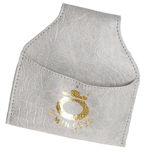 PU Leder Kreidehalter, Billiardkreide Halter / Tasche / Beutel mit Gürtel Clip für Billard Snooker - Farbe Auswählbar - Grau
