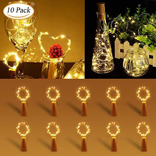 Süße Halloween Geschenke Für Freunde - 【10 Stück】LED Flaschenlicht Warmweiß, Zorara Flaschenlichterkette