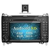Ohok Autoradio Android 9.0 GPS 2 Din pour Mercedes-Benz A-Class/Classe B/Viano/Vito/Sprinter Octa Core Stéréo 4G+32G Sat Nav avec Lecteur DVD Supporte Bluetooth CarPlay Android Auto,7' écran Tactile