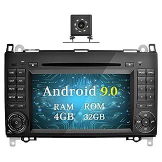 Ohok-7-Zoll-Bildschirm-2-Din-Autoradio-Android-90-Pie-Radio-mit-Navi-Moniceiver-DVD-GPS-Navigation-Untersttzt-Bluetooth-DAB-fr-Mercedes-Benz-A-ClassB-ClassVito-mit-Klein-Rckfahrkamera