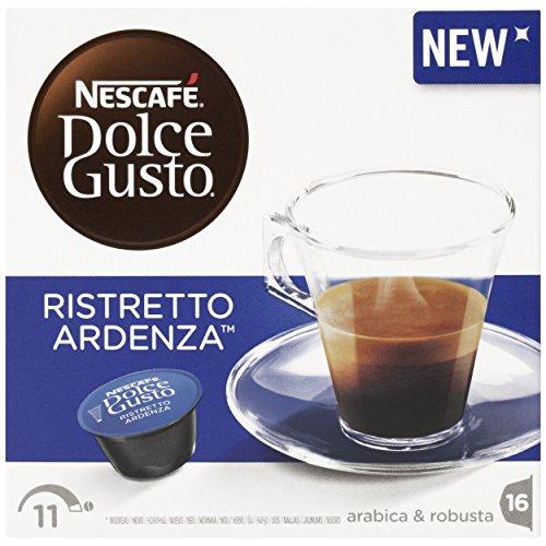Nescafé Dolce Gusto Espresso Ristretto Ardenza, Kräftig, Kaffee, Kaffeekapsel, 16 Kapseln / Portionen