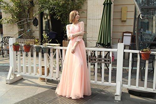 Vickyben Damen A-Linie langes Schnuerung Prinzessin Tuell Abendkleid Ballkleid brautjungfer Cocktail Party kleid Blau