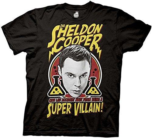 The Big Bang Theory Super Villain Black T-Shirt