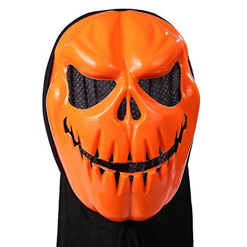 Maske für Halloween – Autbye 2017 Neuester Entwurf Kostüm-Party Requisiten Galvanisieren Kürbis Kopfmaske mit Kopfbedeckung für Erwachsene und (2017 Halloween Requisiten)