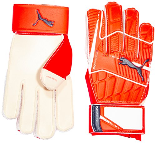 Guantes de portero de fútbol PUMA EVO Speed 5,4, otoño/invierno, unisex, color Naranja - Lava Blast/White/Total Eclipse, tamaño 7