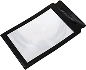 SLB Works 5X(A4 Full Page 3X Magnifier Sheet Large Magnifying Glass Book Reading Aid X2T7