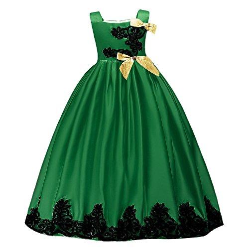 Mädchen Kinder Lace Up Tüll Hochzeit Brautjungfer Kommunion Party Bowknot Kleid Formale Pageant...