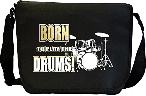 Drum-Kit-Born-To-Play-Sheet-Music-Document-Bag-Musik-Notentasche-MusicaliTee