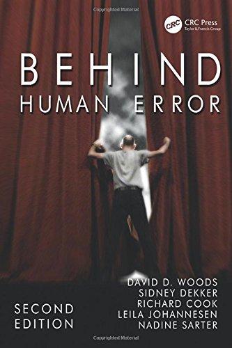 Behind Human Error por David D. Woods