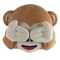 New No Speaking No Looking No Listening Emoji Monkey Pillow Cushion Stuffed Monkey Plush Toys